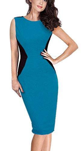 HOMEYEE -  Vestito  - fasciante - Donna Blue