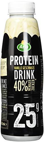 Arla Protein Drink mit Vanille-Geschmack, 8 x 482 ml  - Vanilledrink fettarm mit 40{cdf53dcc7db4c376fba1b178f5d8096c8376adf051b743f89846bf006b885063} weniger Zucker und 25 g Protein