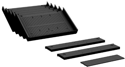 Gera Möbel S-530900-K Container-Einrichtungs-Set Venedig für Kunststoffschubfächer, schwarz