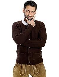ALMBOCK Strickjacke Herren | Cardigan für Männer in schwarz-anthrazit, braun, grau | Trachten Strickjacke | Größen S, M, L, XL, XXL, XXXL
