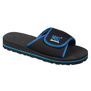 Mens Waterproof Flip Flip Shower Sports Sandals Size 6 to 12 UK HOLIDAY GYM etc (7 UK MENS, Royal & Black)