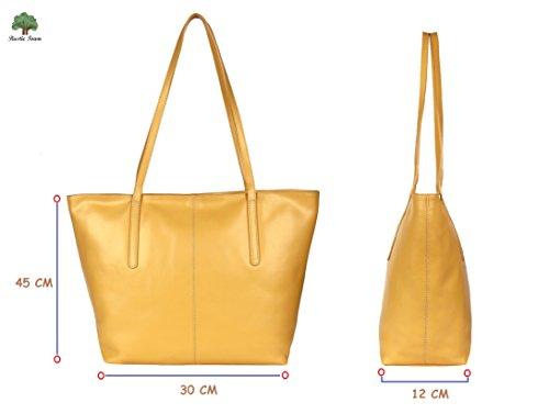 RusticTown ,  Mädchen Damen Tasche Gelb