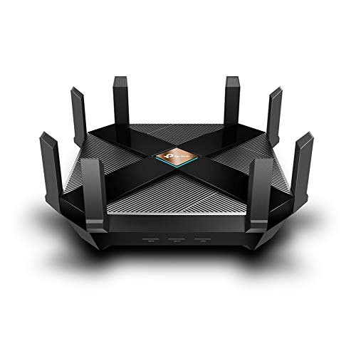 TP-Link Archer AX6000 Next-Gen WiFi 6 Gigabit Dual Band Wireless Cable Router, WiFi Speed up to 4804Mbps/5GHz+1148Mbps/2.4GHz, 8 Gigabit LAN Ports, Ideal for Gaming Xbox/PS4/Steam & 4K/8K Streaming