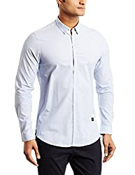 blackberrys Mens Casual Shirt (8907196394406_US-DO065-UC1-F1_42_Light Blue)