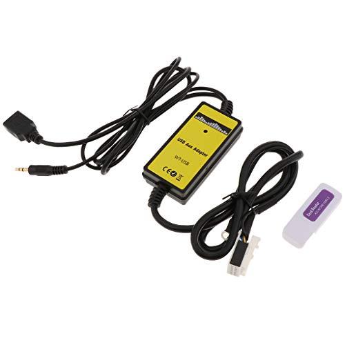 Shiwaki Auto USB AUX In Adapter MP3 Player Radio Schnittstelle Für VW Jetta, MK5, Golf (Schnittstelle Kabelbaum)