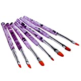 Aikesi 7 Pinceaux Ongles Acrylique Nail Art Brosses et en Gel Pinceaux Ongles UV