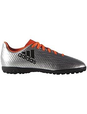 adidas - Botas de fútbol para niño Plateado argent/noir/rouge solaire