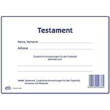 AVERY Zweckform 2838 Testament Vordruck (inkl. umfangreicher Hinweise zur Erstellung) 1 Set