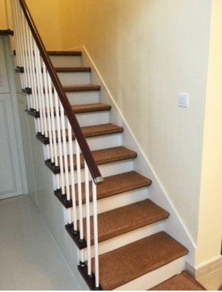 Stair treads collection in door skid slip resistant carpet stair tread treads (brown/gray, set of 13 (8 in x 30 in )-brown 1