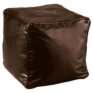 Housse pour pouf carré en simili cuir