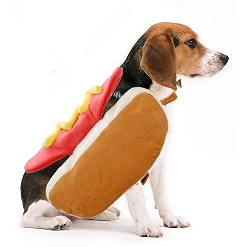 Kostüm Keks Der Hunde - CHUANG TIANG Haustier-Halloween-Kostüme Für Hunde, Haustier-Hundekatzen-Warme Hamburger-Klage-Haustier-Kleidung,L