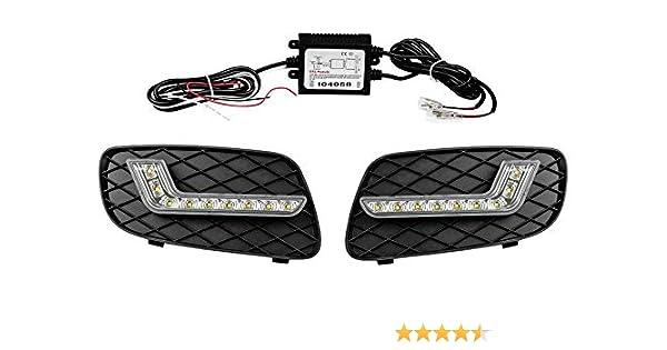 2007-2014 451 Motordrome FR.00.0126 Headlight Spoilers MCC Smart ForTwo ABS