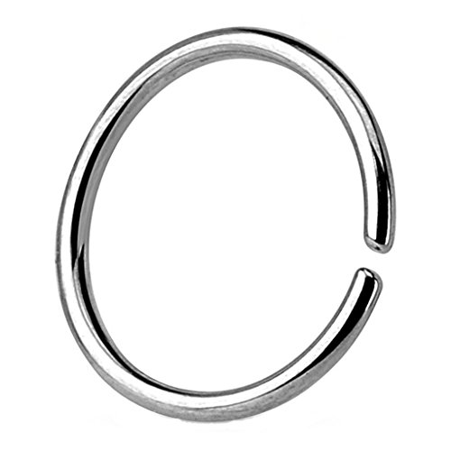 Kultpiercing - Helix Cartilage Tragus Piercing/Fake Piercing Ring/Nasenpiercing / Ohrpiercing Clip-On Classic Silber 1,2 x 10 mm