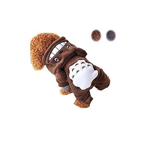 e Kostüm Cartoon-Muster Winter Haustier Kleidung für kleine Hunde … (M, Brown) (Kleinen Hund Halloween-kostüme)
