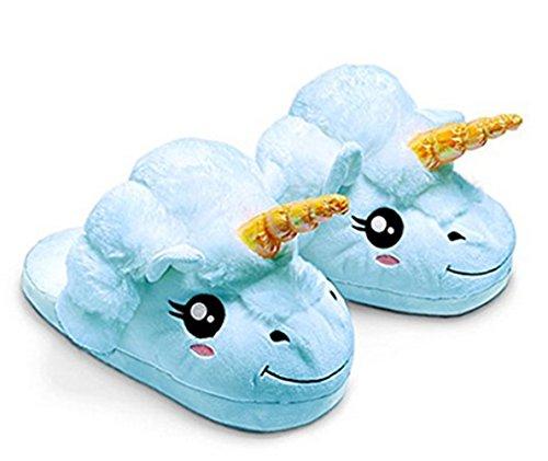 Kenmont Unicorn Einhorn Plüsch Hausschuhe Damen Pantoffeln |slipper|Plüsch Spielzeug| Hausschuh|Schuhe für Erwachsene|Weihnachtsgeschenk|Geschenke, 28cm (Uk Kostüme Zwerg Erwachsene Für)