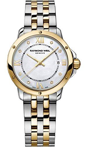 Raymond Weil Tango Mop Dial dos tonos SS Cuarzo Damas Reloj 5391-STP-00995por Raymond Weil