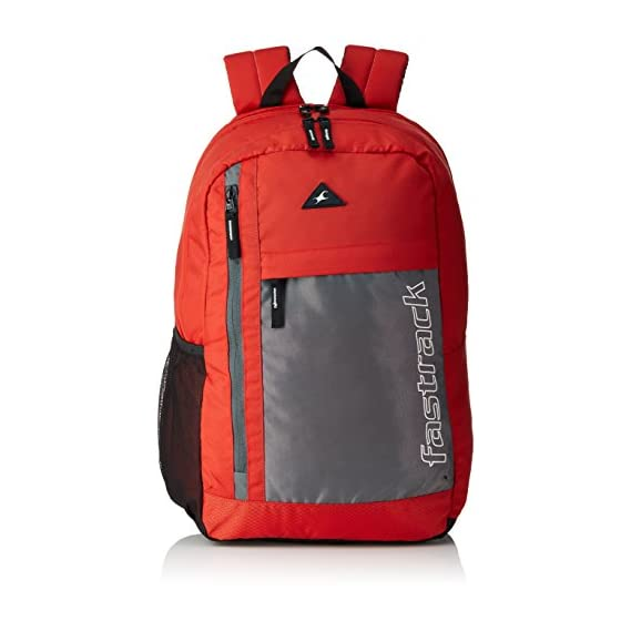 Fastrack 24.09 Ltrs Red School Backpack (A0690NRD01)