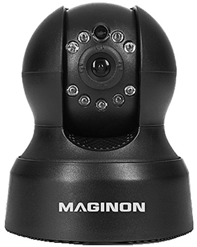 Maginon ID-1 Überwachungskamera -Videokamera zur Überwachung mit 330° dreh- und 90° schwenkbarem Kamerakopf, bis 15 Meter Nachtsicht, IR-Linse - schwarz