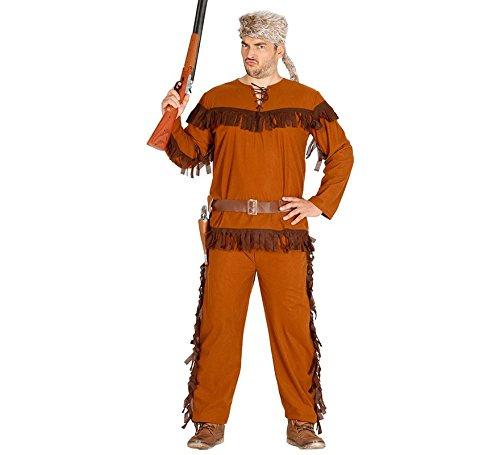 Trapper Kostüm für Herren braunes Herrenkostüm Jäger Waldläufer braun Gr. M - L, - Trapper Kostüm