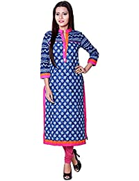 Blue Long Women Kurties, Indian Kurti, Kurti For Girls, Kurta For Women, Kurta For Girls, Cotton Kurta, Blue Kurta...