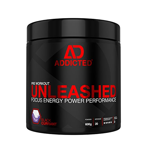 Pre Workout HARDCORE Booster mit INNOVATIVER Pump und Focus Matrix • UNLEASHED von ADDICTED® 600g • Bodybuilding und Trainingsbooster für unfassbaren Muskelpump • Preworkout Supplement für Kraftsport -