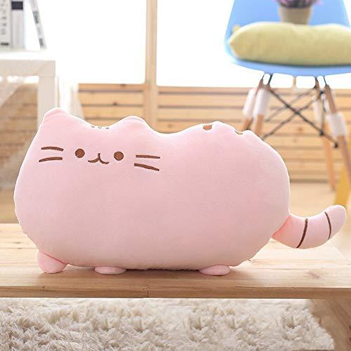 Mini Office Depot Kawaii Katze Kissen Kinder Spielzeug Puppe Plüsch Baby Spielzeug Große Kissenbezug Geschenk Für Kind(Rosa) -