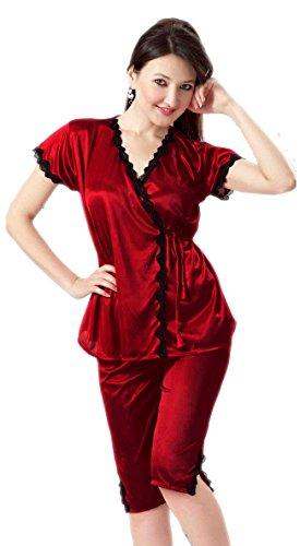 Hot N Sweet 2901 E Maroon Four pieces nightwear