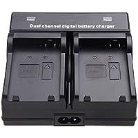 TOOGOO(R) dual Channel Chargeur de batterie pour appareil photo LP-E8 Batterie Canon EOS 550D 600D 650D 700D-Noir