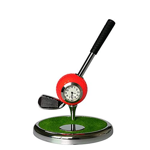 DAG-Outdoor Supplies Funktionelle Golfübungsgeräte Halter Für Büro Desktop Dekoration (NO. 7 Eisen) Metall Kugelschreiber Kreative Golf Club Stift Golf Set Geschenk multifunktions Stift