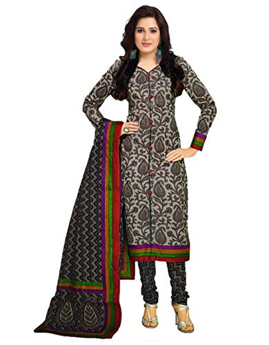 Miraan Unstitched Cotton Dress Material/Churidar Suit for Women