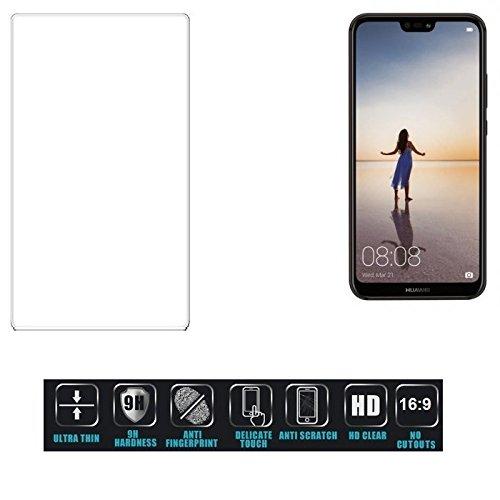 Für Huawei P20 Lite Single-SIM Schutzglas Glas Schutzfolie Glasfolie Bildschirmschutzfolie Bildschirmschutz Hartglas Tempered Glass Verb&glas für Huawei P20 Lite Single-SIM 16:9 Format, bedeckt nic