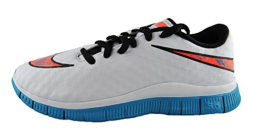 Nike  Free Hypervenom (Gs), Chaussures de football mixte enfant - white blue lagoon total crimson black 100