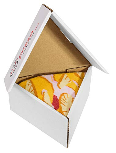 PIZZA SOCKS BOX SLICE - 1 paar Hawaii Pizza LUSTIGE Socken - Ideal als Originelle GESCHENK - Bunt Socken - BAUMWOLLE Reich - Fun Gadget| Größen EU 41-46, Made in EUROPE Pizza Slice Boxen