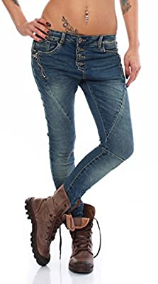 SKUTARI Womens - Jeans Denim Trousers Boyfriend