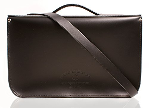 Oxbridge Satchel's, Borsa a secchiello donna Pattent Oxblood nero