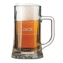 YourSurprise Bierkrug mit Gravur - Bierkrug Gravur mit Name oder Text, spülmaschinentauglich (1)