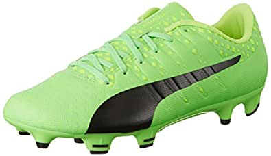 Puma Men's Evopower Vigor 3 Fg Green Gecko, Black and Safety Yellow Football Boots - 8 UK/India (42 EU) (10395601)