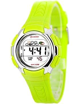 Kleine digitale Mingrui Armbanduhr für Damen und Kinder Alarm Stoppuhr Licht, 0258-MR/8