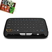 Tiptiper 2.4GHz Wireless Keyboard Touchpad Mouse And Mini Handheld Keyboard For Smart TV Tablet Laptop PC