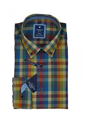 Michaelax-Fashion-Trade -  Camicia classiche  - A quadri - Con bottoni  - Maniche lunghe  - Uomo Rot(51)