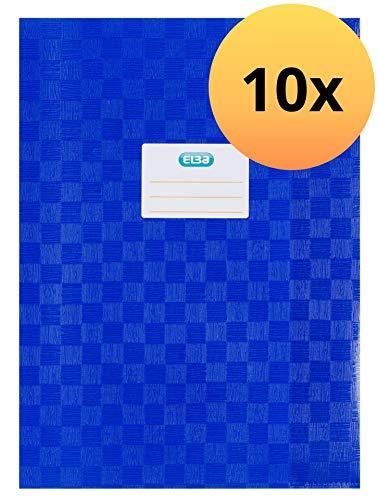 10x Herlitz 5204003 Heftumschlag  A4 PP Baststruktur farbig sortiert