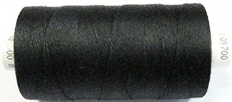 Coats Epic Nähfaden Stärke 50 500m-Rolle schwarz für Jeans u. schwere Stoffe