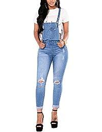 9b3f1ff38d08 Bmeigo Dungarees Denim Womens - Skinny Playsuit Jumpsuit Jeans Ladies Slim  Fit Overalls Trousers