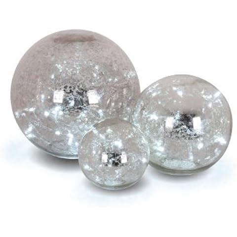 Naeve Leuchten 5081359 - Set de bolas de cristal decorativas (3 unidades)