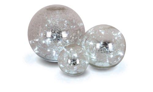 Naeve Leuchten 5081359 Glaskugeln 3-er Set