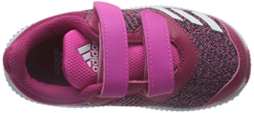 adidas Fortarun Cf I, Sneakers Basses Mixte Enfant rose flash/blanc/rose vif