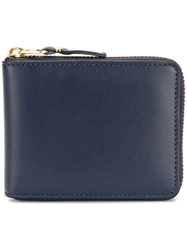 Comme des Garçons Herren Sa7100navy Blau Leder Brieftaschen -