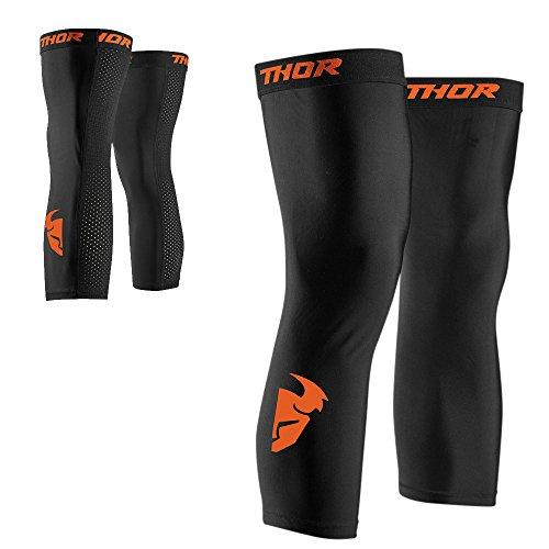 Thor Comp Sleeve Kniesocken Socken Enduro Offroad Kniewärmer Cross Motocross (L/XL, Schwarz / Orange)