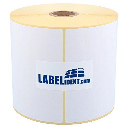 Labelident Versandetiketten auf Rolle (105 x 148 mm) - permanent haftend, 500 Papieretiketten auf 25 mm (1 Zoll) Rollenkern, mit Trägerperforation