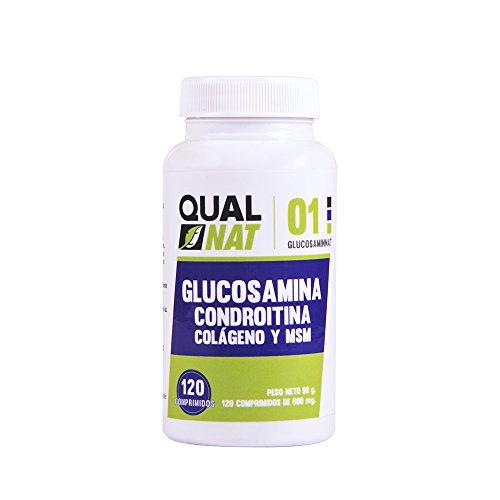 Glucosamina, condroitina y msm para las inflamaciones – Suplemento alimenticio para el dolor de las articulaciones   Condroitina glucosamina para el dolor muscular – 120 comprimidos